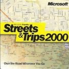 MS Streets & Trips 2000 PC CD planning driving directions addresses travel GPS!