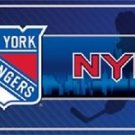 """New York Rangers Vanity License Plate Tag  6""""x 12"""" Metal Auto Cup New NHL Car"""