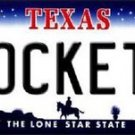"NBA Rockets  Vanity License Plate Tag  6""x 12"" Metal Houston Auto Frame Texas"
