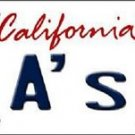 "Oakland A's Vanity License Plate Tag  6""x 12""  Metal Auto MLB California State"
