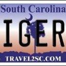 "NCAA Clemson Tigers Vanity License Plate Tag 6""x12""  College Metal Auto Team New"