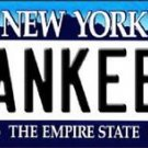 "Mlb New York Yankees Vanity License Plate Tag  6""x 12""  Metal Auto City State"