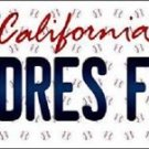"Mlb Padres Fan Vanity License Plate Tag  6""x 12""  Metal Auto San Diego Baseball"