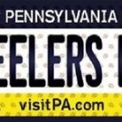 "Steelers Fan Vanity License Plate Tag Pittsburgh 6""x 12"" Metal NFL Auto Truck"