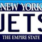 "Nfl New York Jets Vanity License Plate Tag   6""x 12"" Metal Auto Revis Namath New"