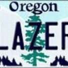 "NBA Trail Blazers Vanity License Plate Tag  6""x 12"" Metal Portland Auto Oregon"