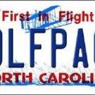 "NCAA North Carolina State Vanity License Plate Tag 6""x 12"" Wolf Team Metal Auto"
