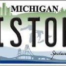 "NBA Pistons Vanity License Plate Tag Detroit 6""x 12"" Metal Wall Auto New Car"