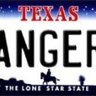 "Mlb Rangers Vanity License Plate Tag Texas 6""x 12""  Metal Auto Car Logo New"