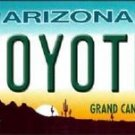"NHL Phoenix Coyotes Vanity License Plate Tag  6""x 12"" Metal Auto Cup Wall New AZ"