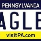 "Nfl Eagles License Plate Vanity Tag Philadelphia  6""x 12"" Metal Auto Wentz 11"