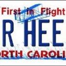 """NCAA North Carolina Vanity License Plate Tag 6""""x 12""""  Tar Heels Team Metal Auto"""