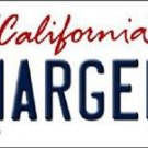 "Nfl Chargers License Plate Vanity Tag San Diego  6""x 12"" Metal Auto Bosa 99 New"