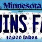 """Twins Fan Vanity License Plate Tag 6""""x 12""""  Metal Auto Minnesota Target New MLB"""