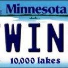 "Twins Vanity License Plate Tag  6""x 12""  Metal Auto Minnesota Target New MLB"