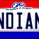 "MLB Indians Vanity License Plate Tag  6""x 12""  Metal Auto Cleveland Tribe New"