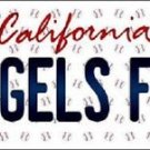 """Mlb Angels Fan Vanity License Plate Tag  6""""x 12"""" Metal Auto Los Angeles Trout"""