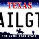 Texas Tailgater Cowboy Vanity Metal Novelty License Plate Metal State Auto Tag
