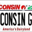 Wisconsin Girl  Vanity Metal Novelty License Plate Metal Packers  Auto Tag