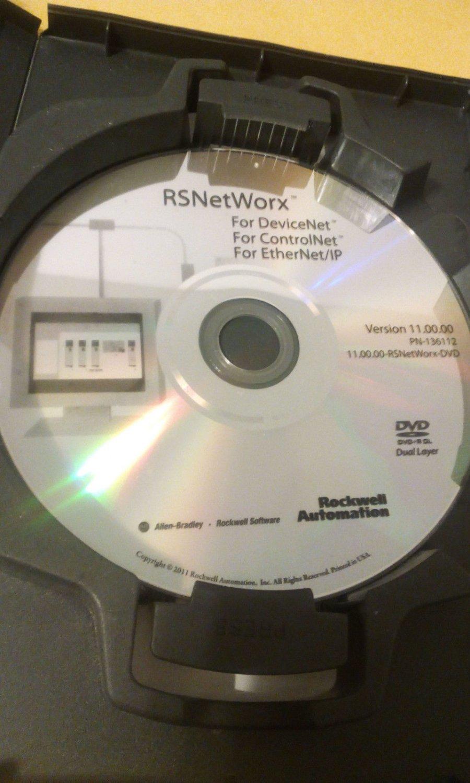 ROCKWELL 9357-CNETL3 SOFTWARE ContolNet, DeviceNet Ethernet/IP DVD Allen Bradley