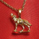 14K 14KT K Double Gold Filled Bonded Dog/Wolf Charm Pendant