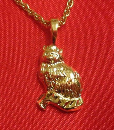 14K 14KT Double Gold Filled Cat Charm or Pendant