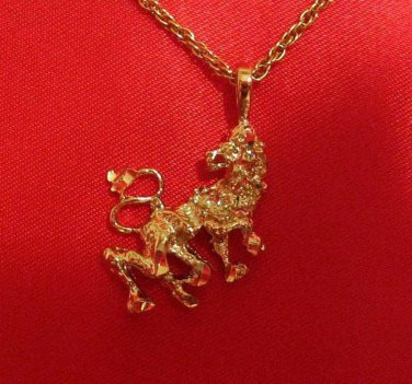 14K 14KT Double Gold Filled Lion Charm or Pendant