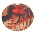 "The Best of Leyendecker Christmas Surprise 8 1/2"""" Porcelain Plate 1976 No COA"