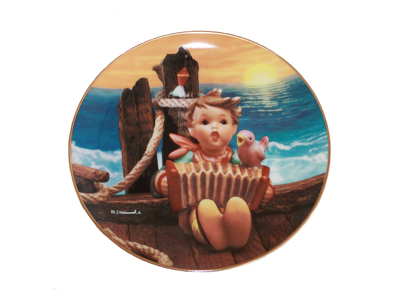 """Let's Sing by M. I. Hummel 8 1/4"""""""" Collectible Plate 23k Gold Rim w/COA 1993"""