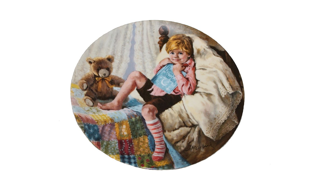 """Diddle Diddle Dumpling by John McClelland 8 1/2"""""""" Collectors Plate w/Certificate and Booklet"""