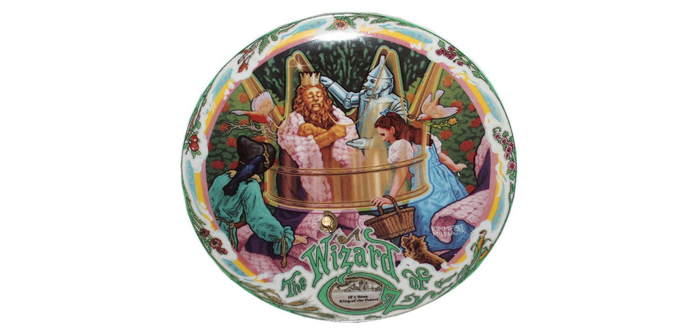 """If I Were King of the Forest by Kimmerle Milnazik 7 1/2"""""""" Musical Plate with COA Wizard Of Oz"""