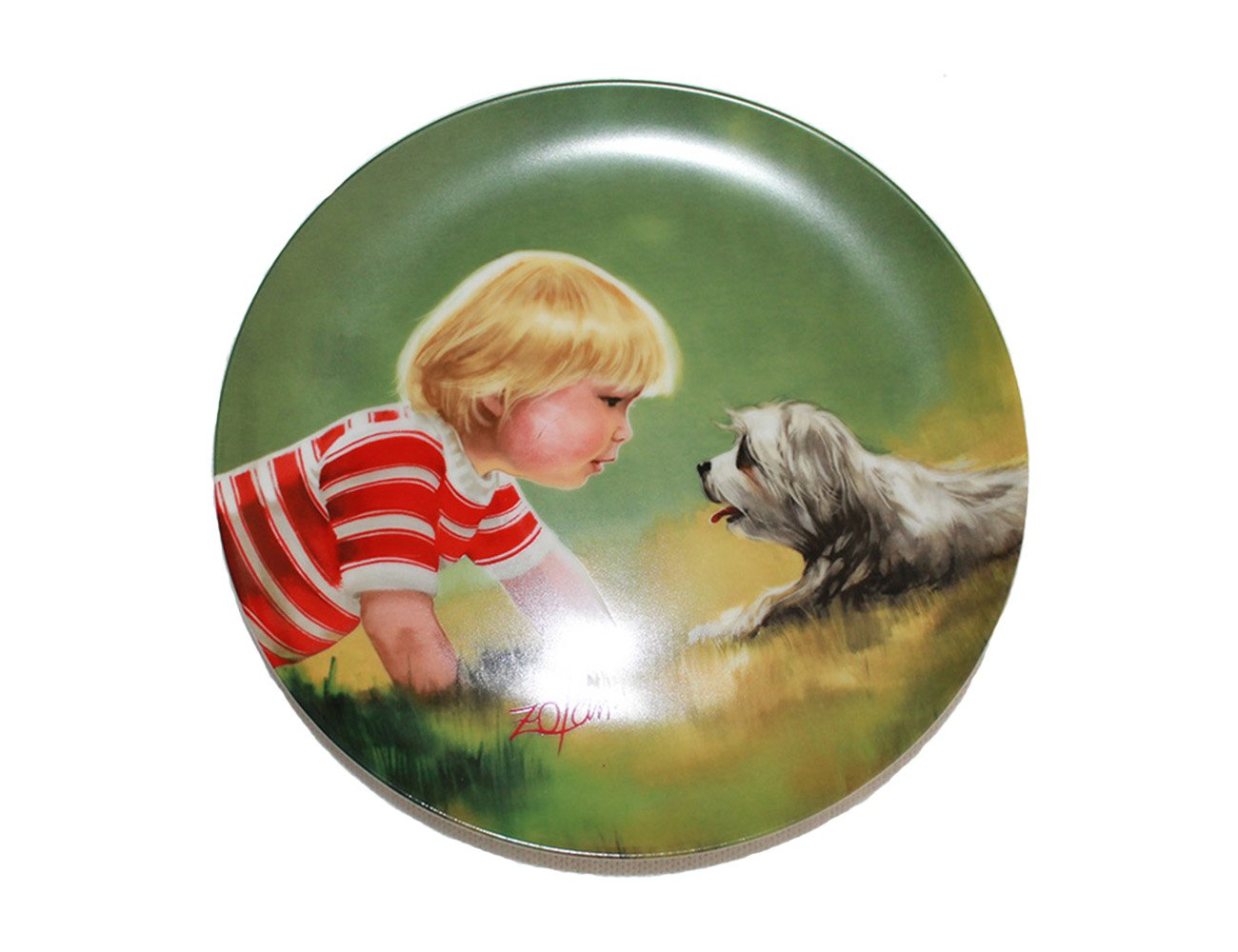 """Making Friends by Donald Zolan 7 1/2"""""""" Collectible Plate With Certificate and Booklet"""