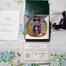 "Seaside Treasures by Donald Zolan Miniature 3 1/4"""" Collectors Plate with COA & Stand"