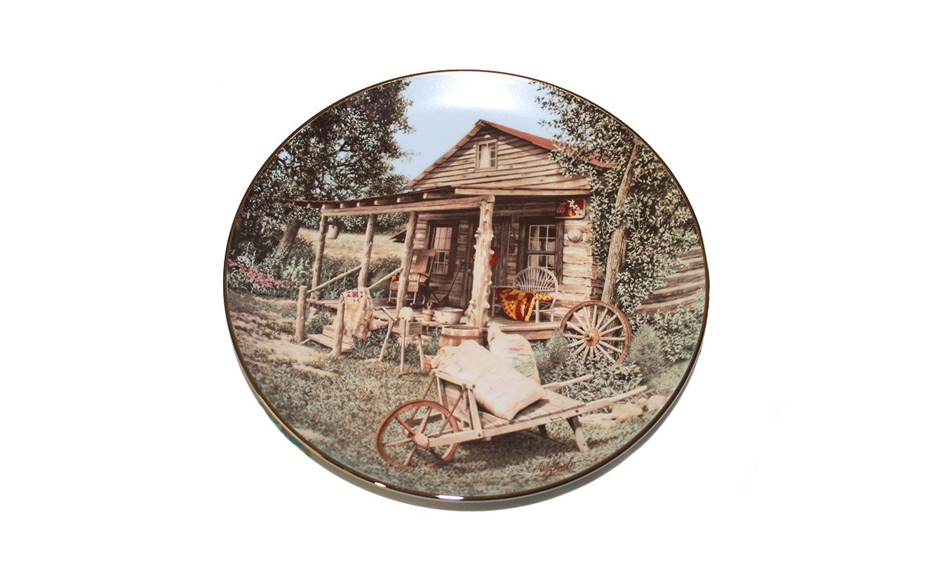 "The Old Country Store by Mel Steele 8"""" Collectible Plate Original Box w/COA"
