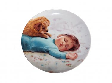 """Waiting to Play by Donald Zolan 7 1/2"""""""" Collectible Plate & Certificate & Booklet"""
