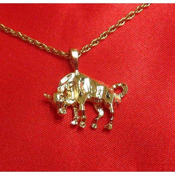 14K Double Gold Filled Bull Charm/Pendant