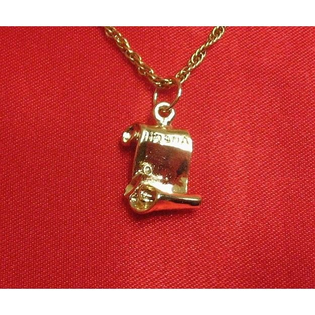 14K Double Gold Filled Diploma Charm/Pendant