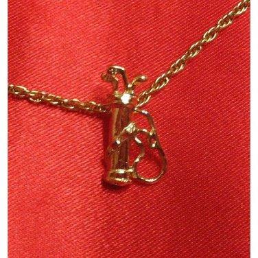 14K Double Gold Filled Golf Bag Charm/Pendant