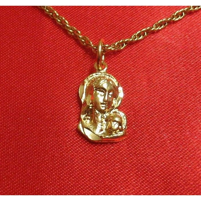 14K Double Gold Filled Madonna & Child Charm/Pendant