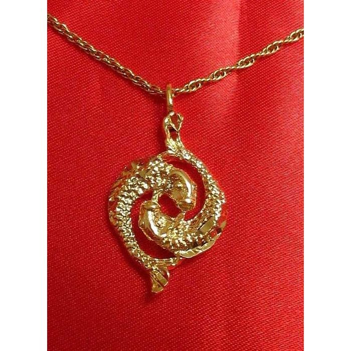 14K Double Gold Filled Pisces Charm/Pendant