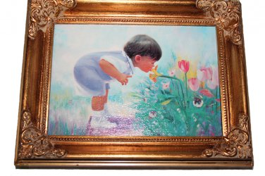 Easter Morning by Donald Zolan Framed Canvas Transfer 7 x 9 With Certificate