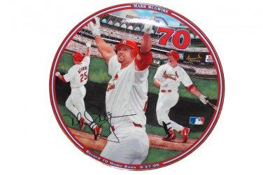 """Record 70 Home Runs Mark McGwire Home Run Hero 8"""""""" Collectors Plate with COA"""