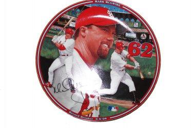 """Record Breaker 9-8-98 Mark McGwire Home Run Hero 8 """"""""Collectors Plate with COA"""