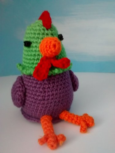 Kitchen chicken small ( green and purple)
