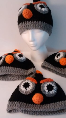 Black Angry Bird Hat