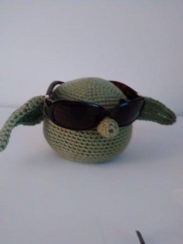 Yoda eye glass holder