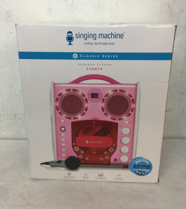 Singing Machine SML-383 Portable CD-G Karaoke Player and 3 CDGs Party (Ex-display)