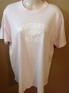 Wisconsin Badgers Athletics Women's Large Pink Cotton Short Sleeve T-shirt