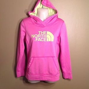 North Face Small Hoodie Pullover Sweatshirt Pink Lime Green Spring Workout