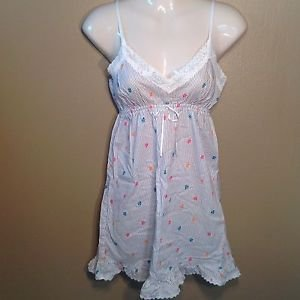 Old Navy XS Floral Spagetti Strap Comfortable Babydoll Nightgown Pajama Dress